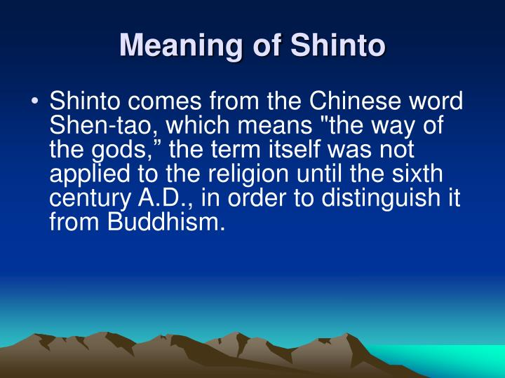 Meaning of Shinto