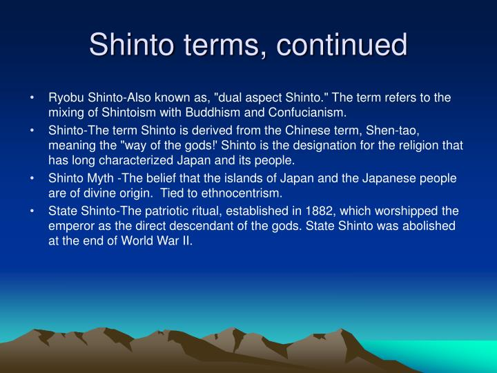 Shinto terms, continued