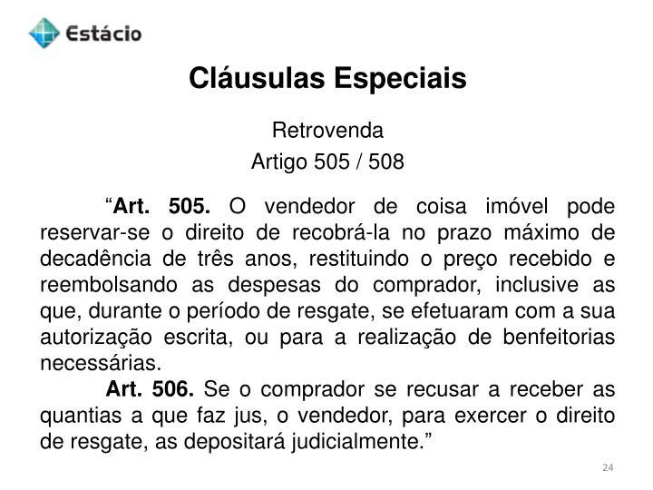 Cláusulas Especiais