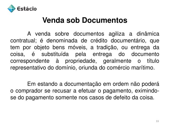 Venda sob Documentos