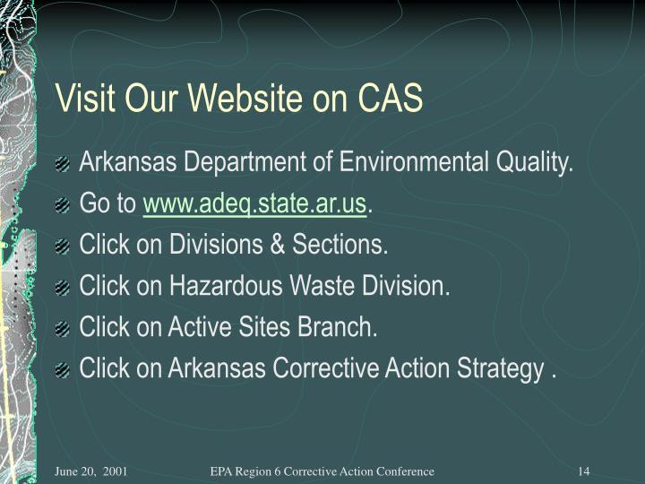 Visit Our Website on CAS