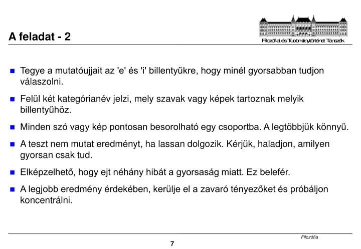 A feladat - 2