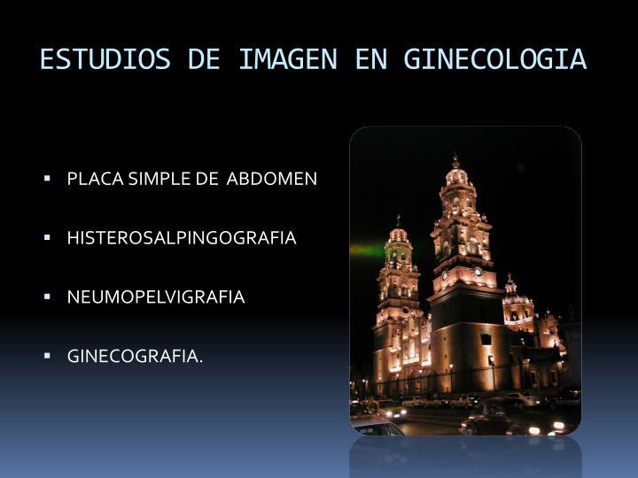 ESTUDIOS DE IMAGEN EN GINECOLOGIA