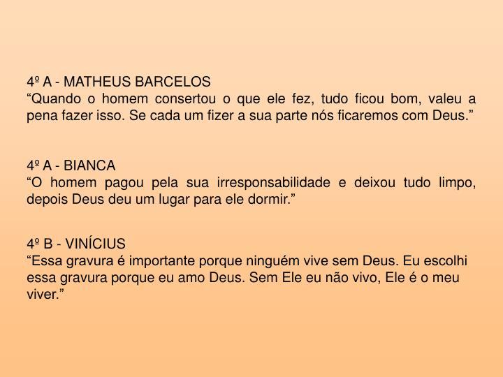 4º A - MATHEUS BARCELOS