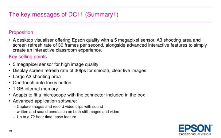 The key messages of DC11 (Summary1)
