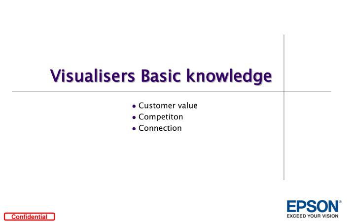 Visualisers Basic knowledge