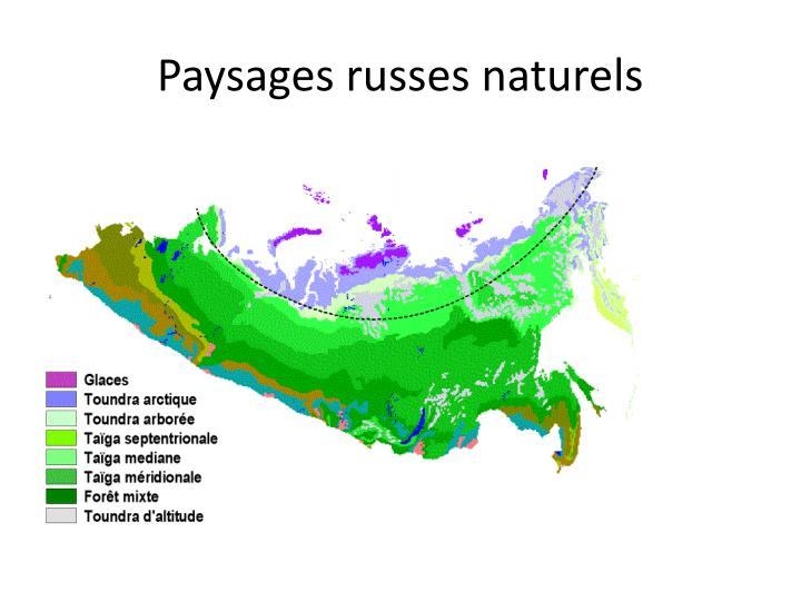 Paysages russes naturels
