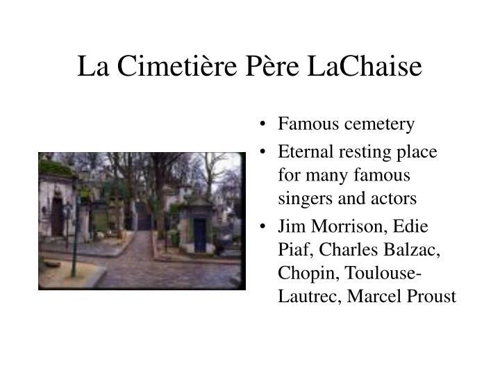 La Cimetière Père LaChaise