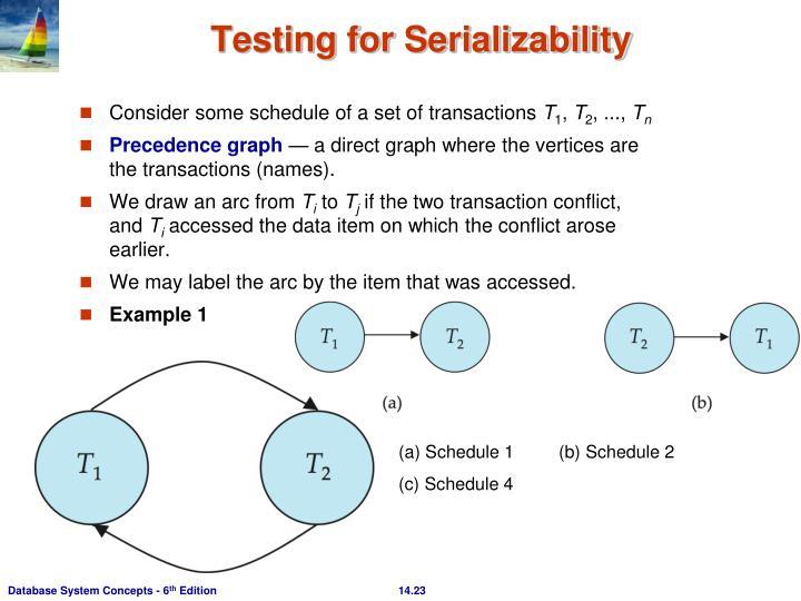 Testing for Serializability