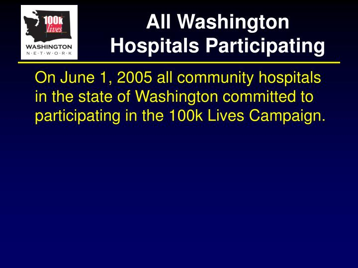 All washington hospitals participating