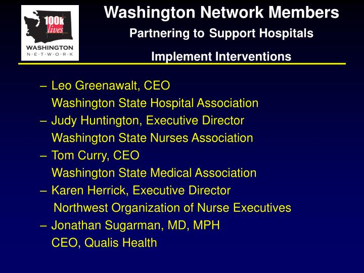 Washington Network Members