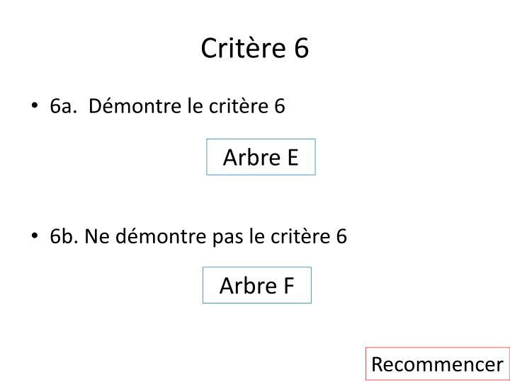 Critère 6