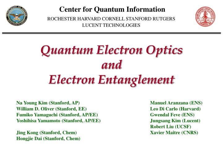 Center for Quantum Information