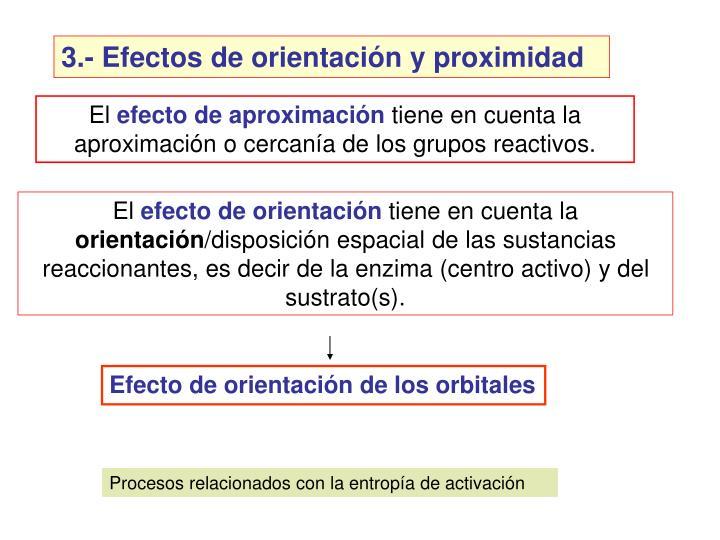 3.- Efectos de orientacin y proximidad