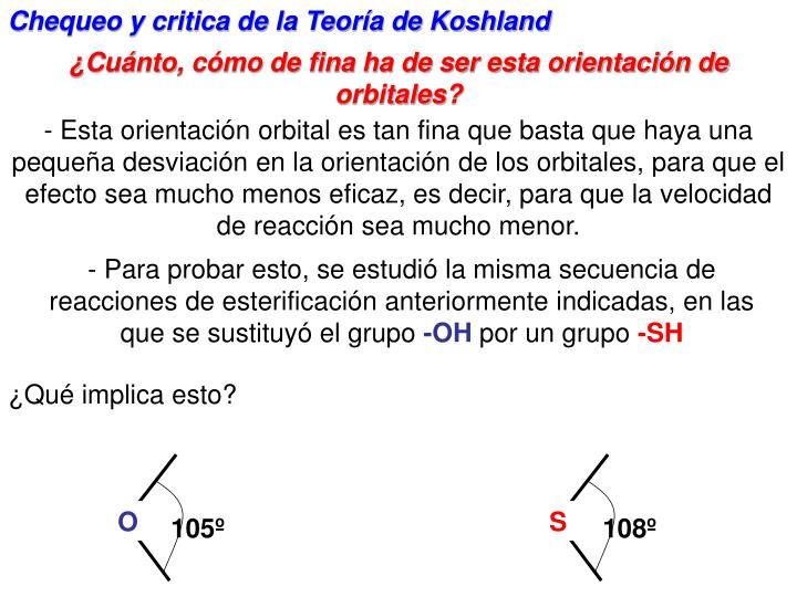 Chequeo y critica de la Teora de Koshland