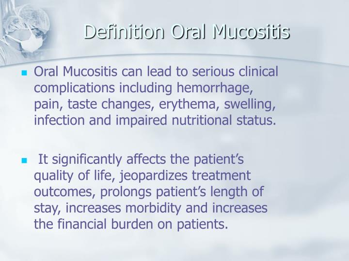 Definition Oral Mucositis