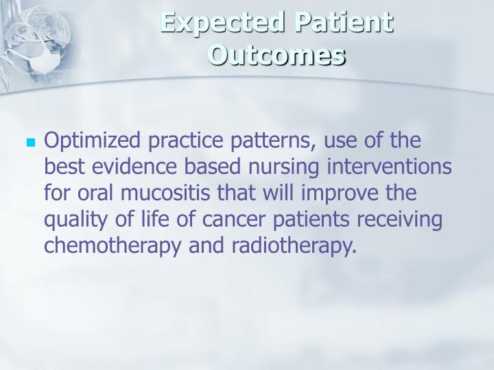 Expected Patient Outcomes
