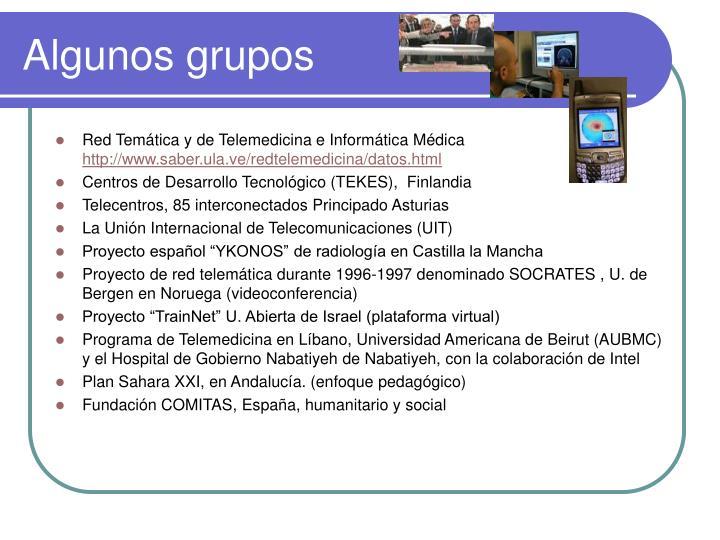 Algunos grupos