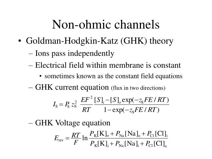 Non-ohmic channels