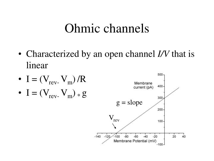 Ohmic channels