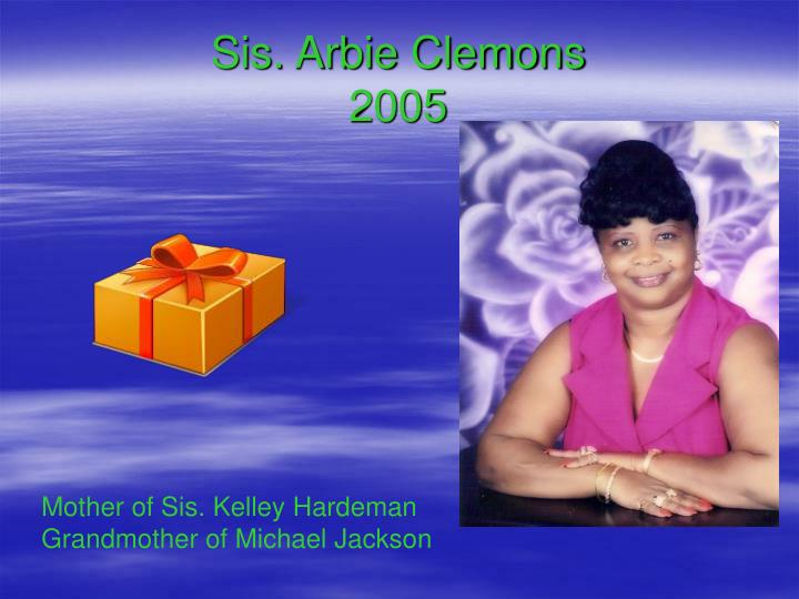 Sis. Arbie Clemons