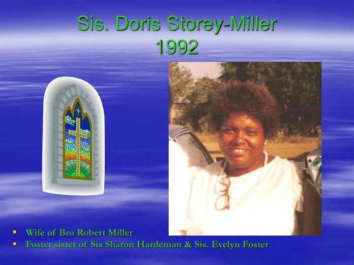 Sis. Doris Storey-Miller