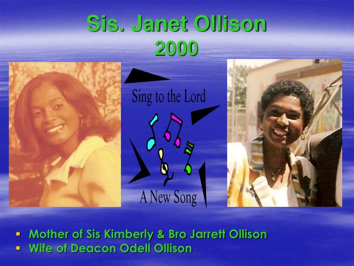 Sis. Janet Ollison
