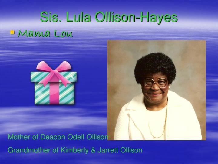 Sis. Lula Ollison-Hayes