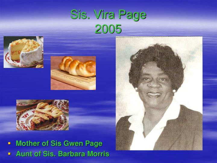 Sis. Vira Page