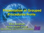 presentation of grouped procedures profile