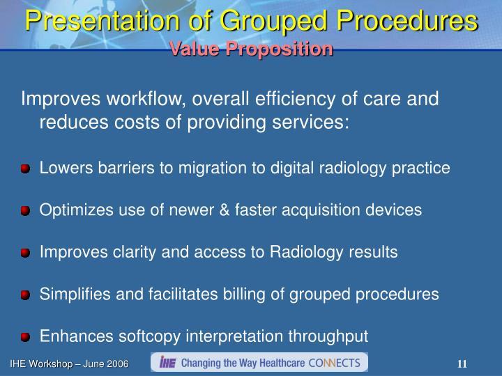 Presentation of Grouped Procedures