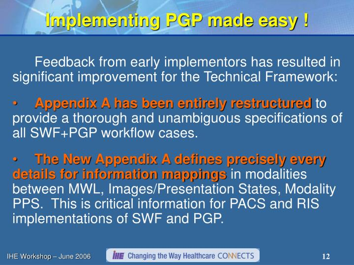 Implementing PGP made easy !