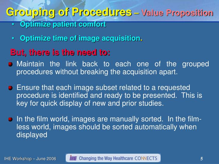 Grouping of Procedures