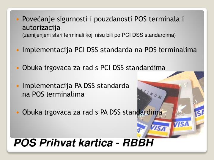 Povećanje sigurnosti i pouzdanosti POS terminala i autorizacija