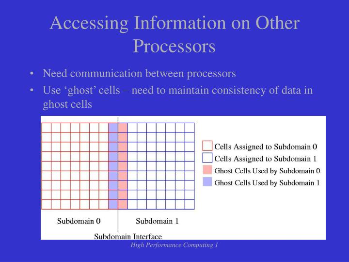 Accessing Information on Other Processors