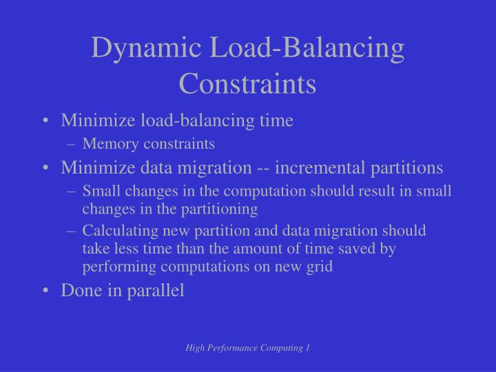 Dynamic Load-Balancing Constraints