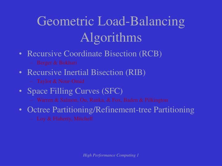 Geometric Load-Balancing Algorithms
