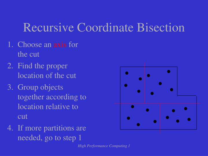 Recursive Coordinate Bisection