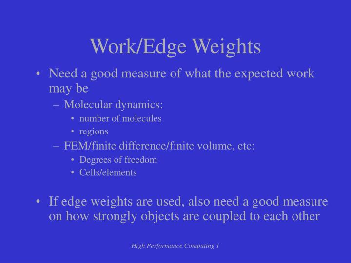 Work/Edge Weights