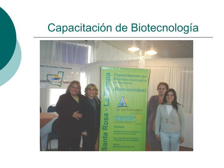 Capacitación de Biotecnología