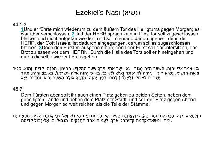 Ezekiel's Nasi (