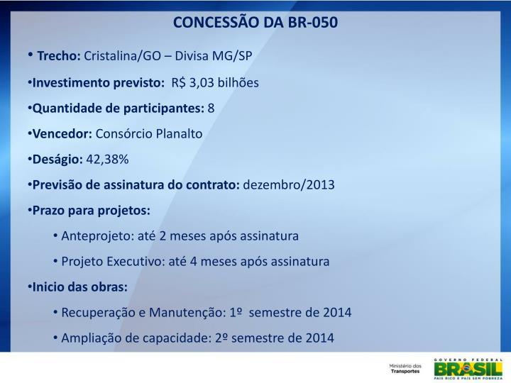 CONCESSÃO DA BR-050