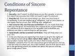 conditions of sincere repentance