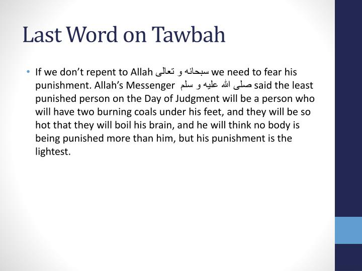 Last Word on