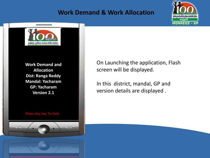 Work Demand & Work Allocation