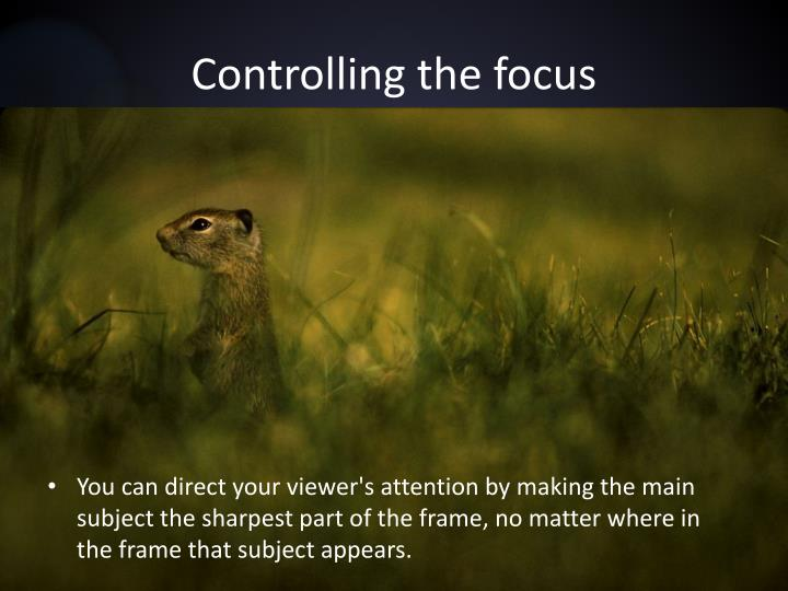 Controlling the focus