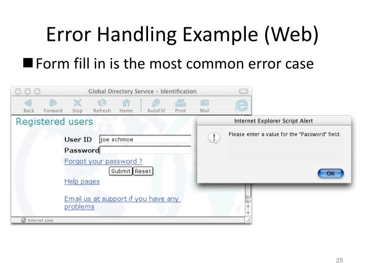 Error Handling Example (Web)