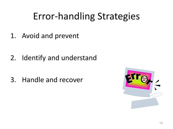 Error-handling Strategies