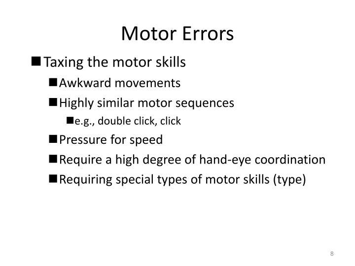 Motor Errors