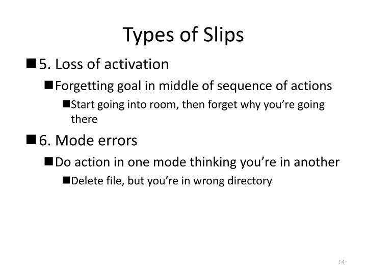 Types of Slips